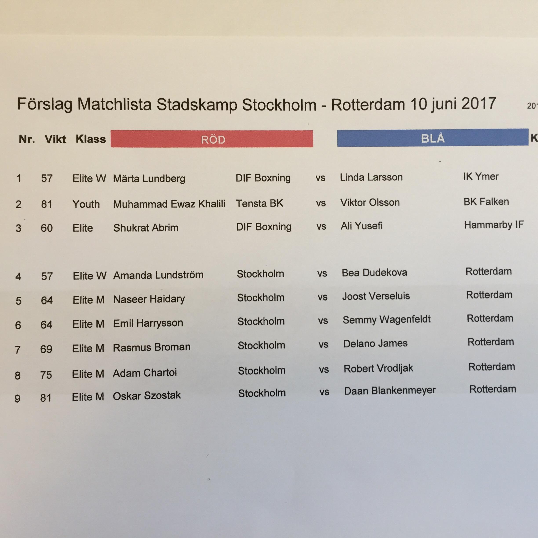 Missa inte Stadskampen Stockholm-Rotterdam i morgon lördag den 10 juni!