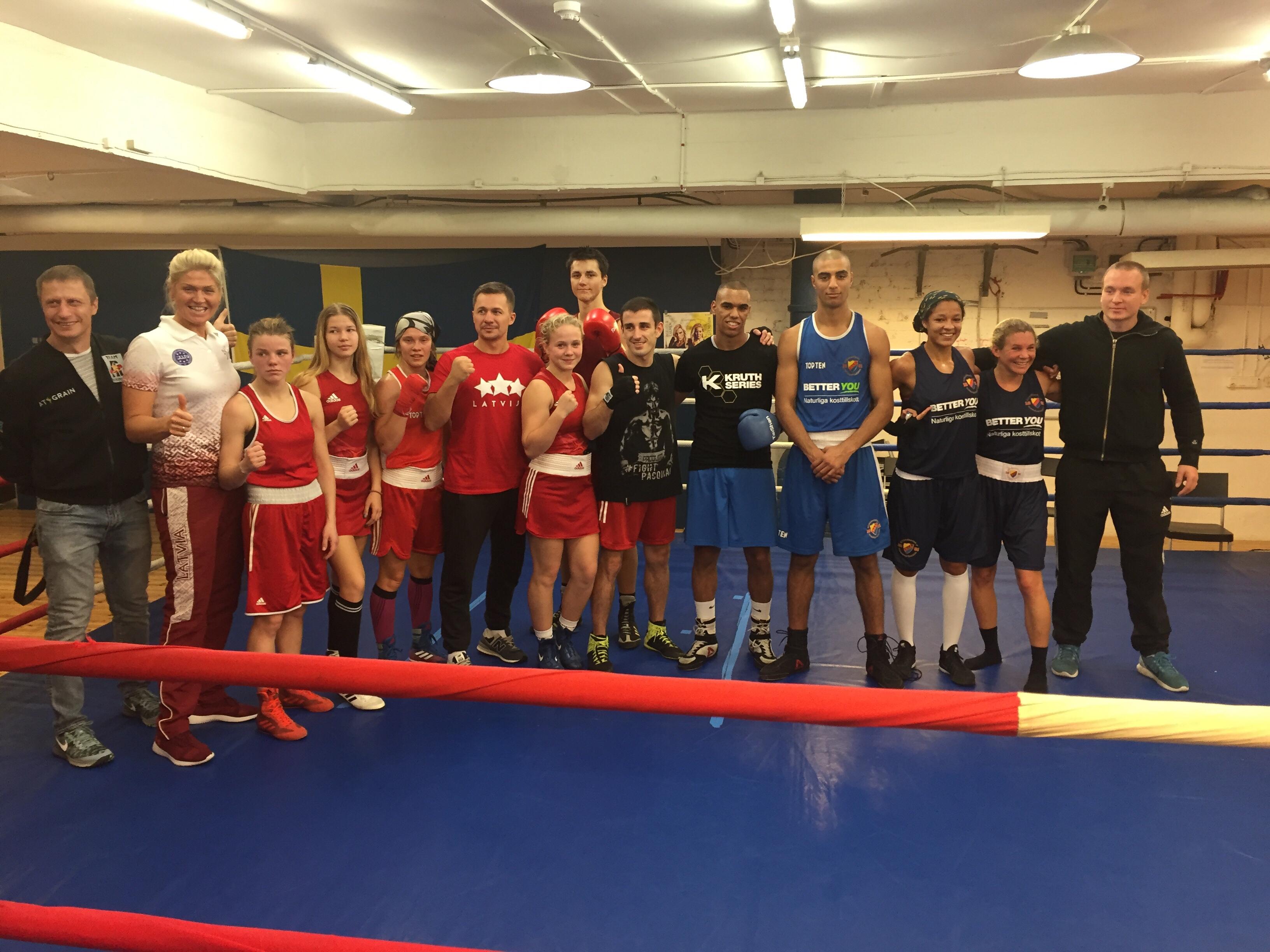 Matchsparring mot Lettländska landslagsboxare!