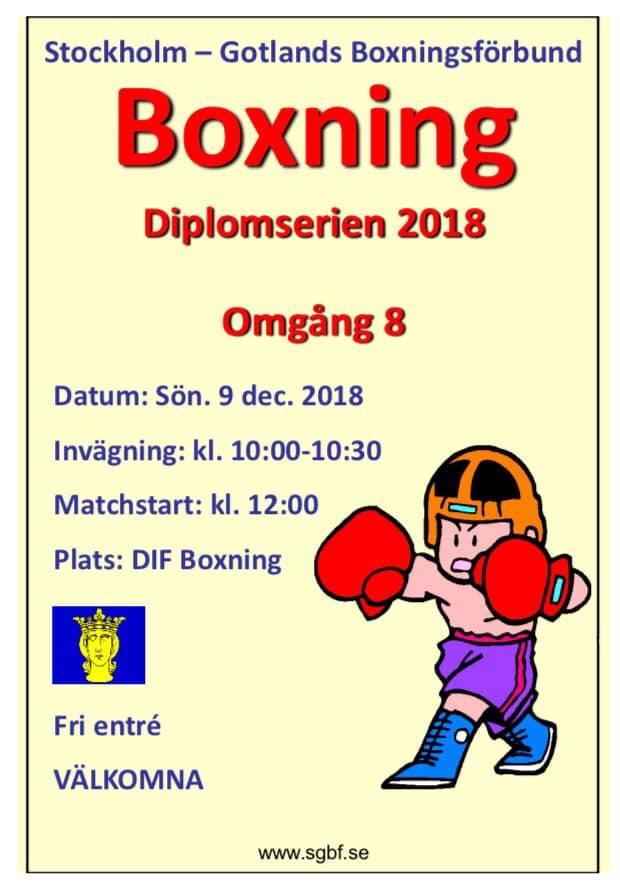 Diplomboxning hos Djurgården idag!