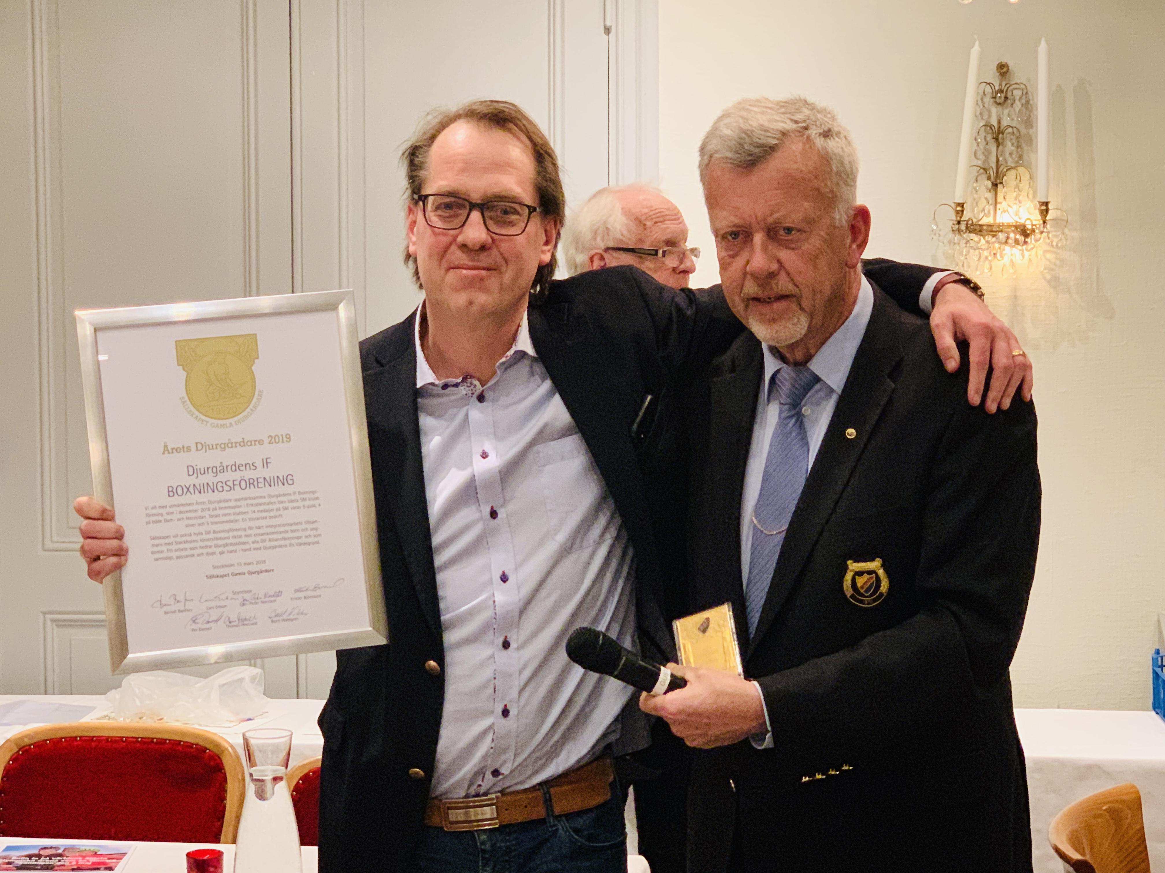 """Djurgården Boxning – """"Årets Djurgårdare"""""""