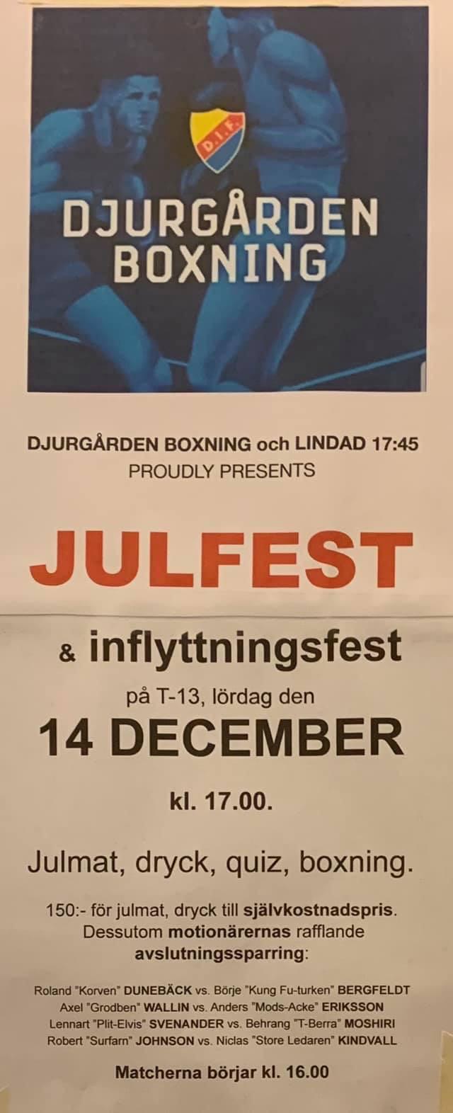 Julfest hos Djurgården Boxning