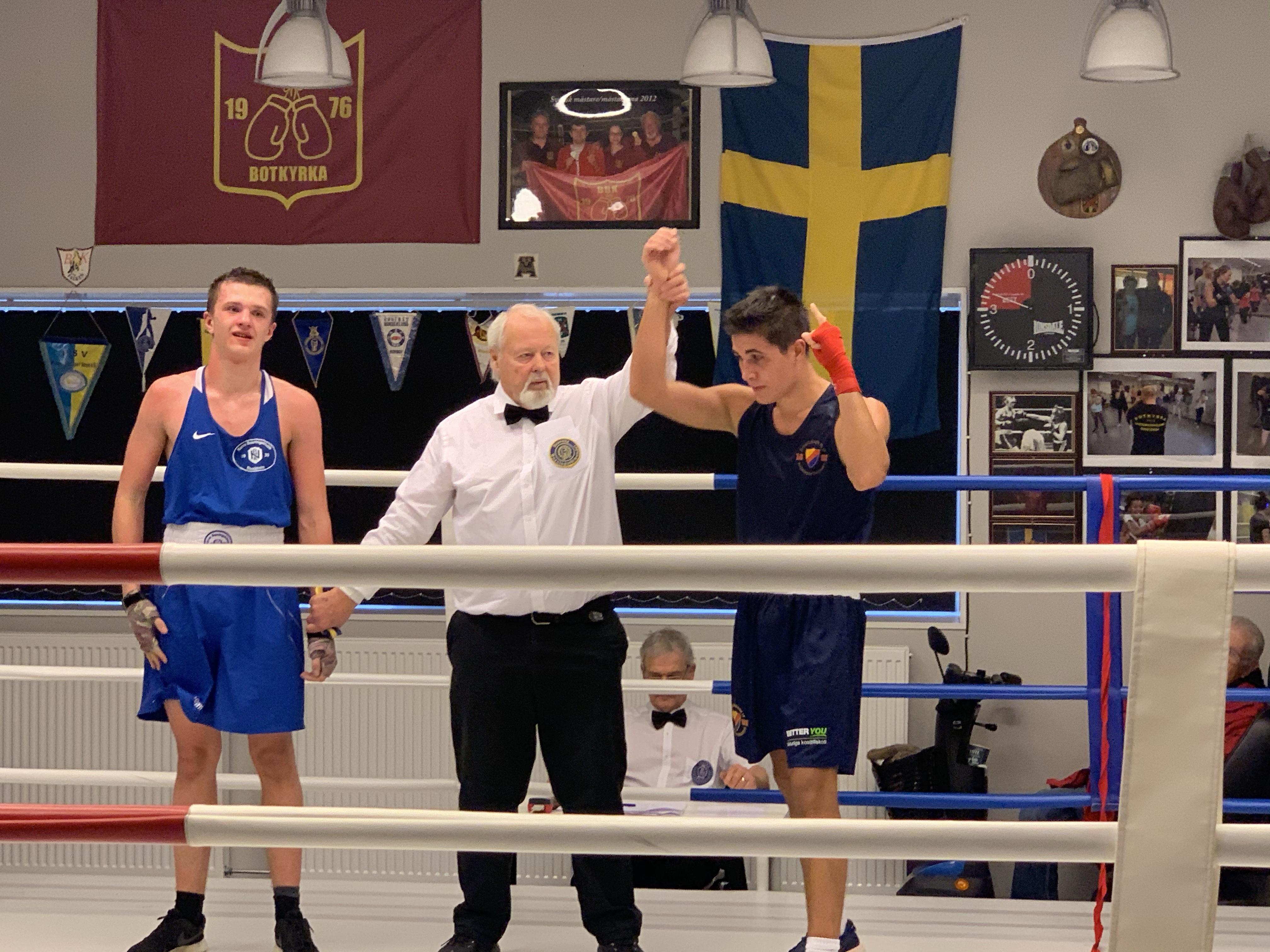 Tre guld i Botkyrka Box Cup