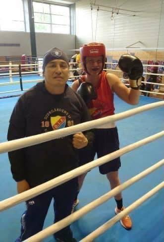 Erika på sparringläger i Tyskland