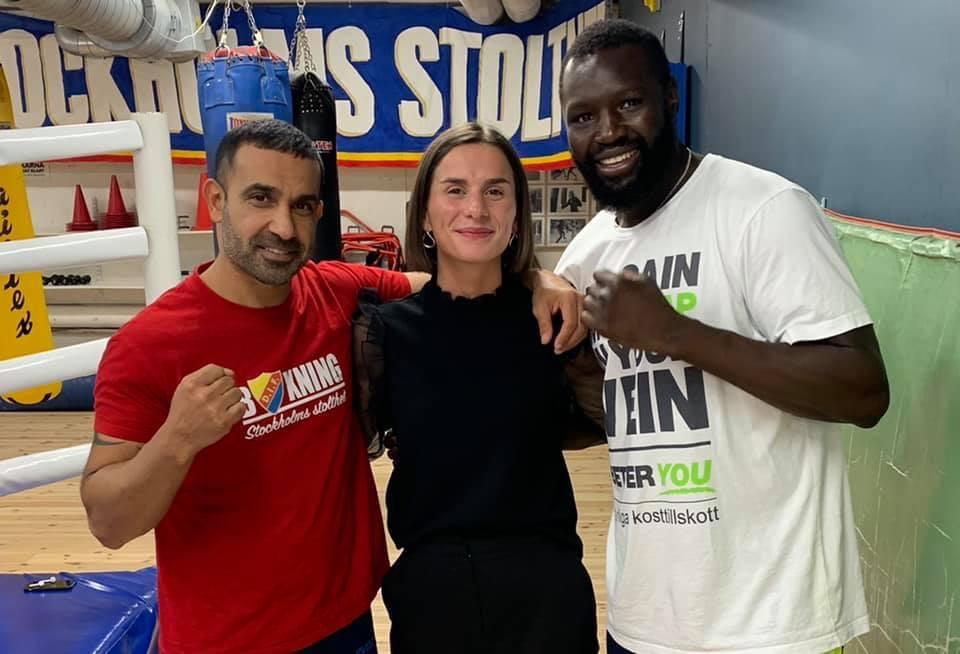 Besök av Champ Milica Avramovic