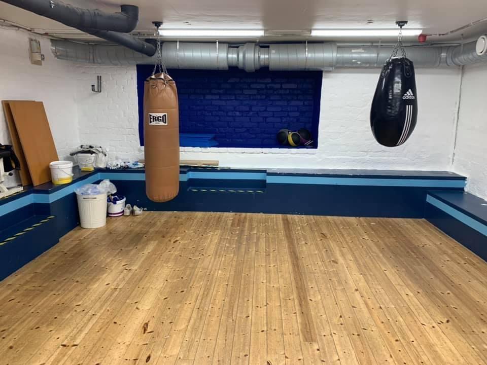 Renovering i lilla träningslokalen